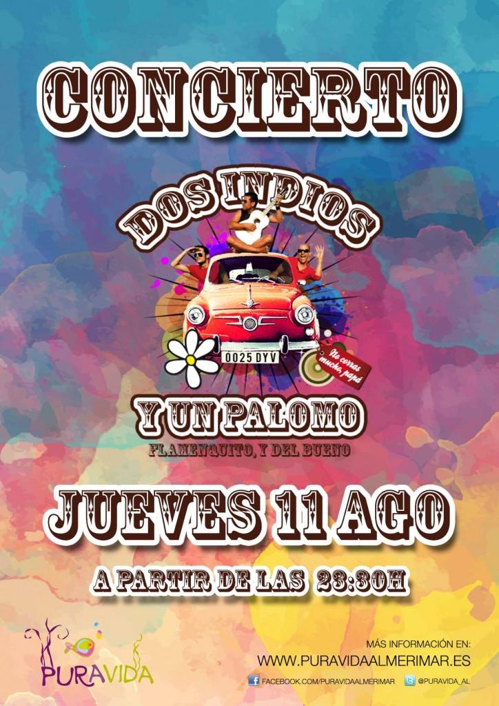 Conciertazo de Dos Indios y un Palomo en Pura Vida ESTE JUEVES!!!!! Llega pronto para pillar buen sitio :D