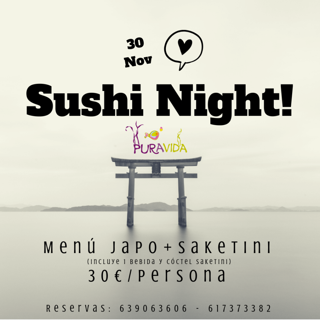 sushi night 30Nov